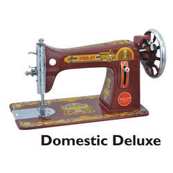 Manual Pooja Domestic Deluxe Sewing Machine, Speed: 1250 SPM