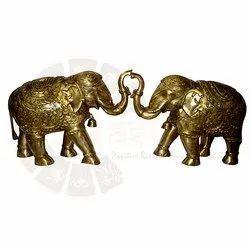 Brass Elephant Figurine, Size: 13 inch