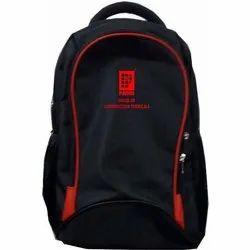 Polyester Plain Black School Backpack, For College
