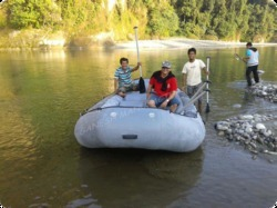 Hypalon + Neoprene 9 Person Self Baling River Raft