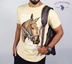 Cotton U.S. Polo Assn Men Printed T-Shirt