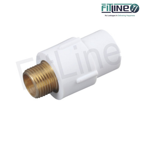 Fitline Push & Threaded Type UPVC Brass MTA, Size: 1/2 inch, for Hydraulic Pipe