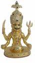 Gold Plated Nakoda Bhairav Nath Statue