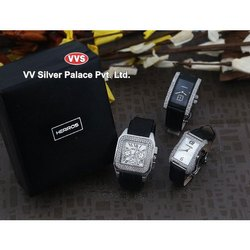 Rectangular Casual Watches Herros Silver Wrist Watch