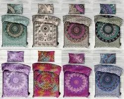 Elephant Print Ombre Mandala Single Bed Sheet
