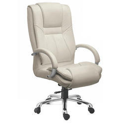 SPS-125 High Back White Leather Chair