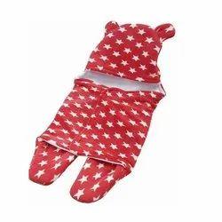 Little Cubs Red Star Print Baby Blanket Cum Sleeping Bag
