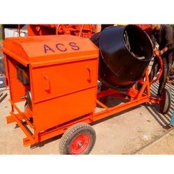MS Half Bag Mobile Cement Concrete Mixer, Output Capacity: 480-1200 L