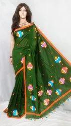 Madhubani Embroidery Work Saree