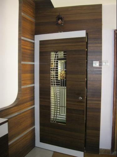 Wood Hinged Safety Door For