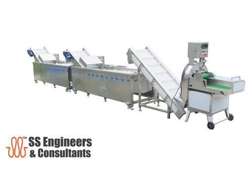 Vegetable and Fruit Cutting Washing Line, Capacity: 1000-1500 kg/h