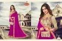 Dyed Georgette Embroidery work Saree with Lace - Kapoor 02