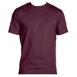 Plain Micro Polyester Half Sleeve T- Shirt
