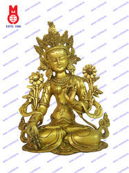 White Tara Sitting W/Out Base Statue