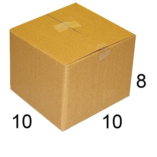 Rectangle 10 x 10 x 8 inch Packaging Corrugated Box