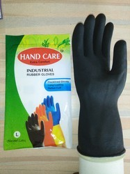 Blue Unisex Hand Care Industrial Rubber Gloves, EXCC, for Construction/Heavy Duty Work