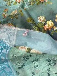 Indian Ethnic Designer Kanchi Korvai Printed Party Wear Saree