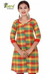 Cotton Partywear Girls Top Kurtis, Age: 10-16 Yrs