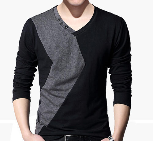 43f63547de2f Men Multicolor Mens Full Sleeve V Neck T Shirt