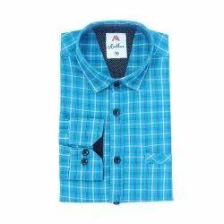 Cotton Checked Shirt Casual