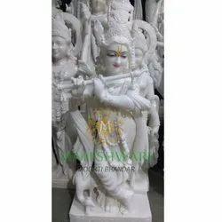 Temple White Marble Krishna Statue