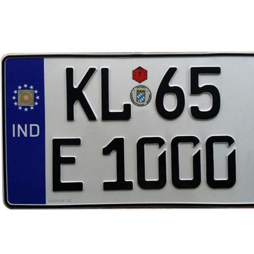 European Number Plate At Rs 850 Set Car Number Plate Id 9672093748