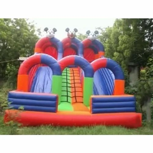 Inflatable Sliding, Age Group: 4-14 Yrs, Packaging Type: Plastic Bag