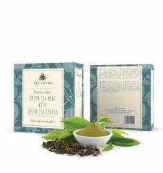 Aro Vatika Best Quality Green Tea Mint with Green Tea Leaves Organic Soap, 100g