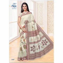1407 Ladies Designer Cotton Saree