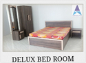 Akash Brown Delux Bed Room Set, Size: Queen