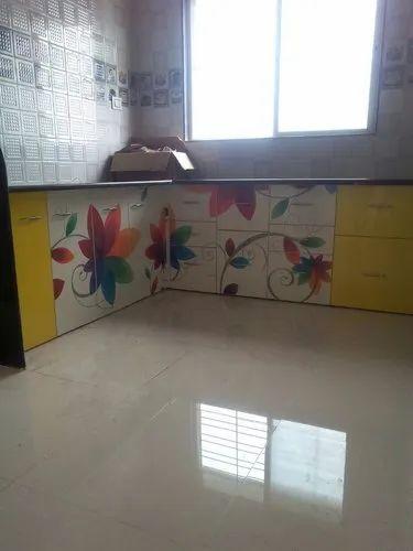 L Shape Modern Wooden Kitchen Cabinets