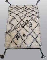 SGE White Moroccan Berber Carpets for Home, Hotel