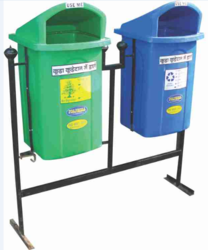 Road Side bin with stand ( Double Bin )