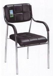 Sumeet Furniture Brown and Black Armrest Fixed Chair, For Office