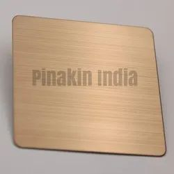 Stainless Steel PVD Coated Champagne Hairline Finish Sheet
