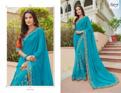 Stylish Blue Designer Saree