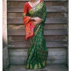 Chiffon Ladies Designer Saree, 5.5 M (separate Blouse Piece)