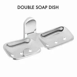 Cauvery Slim Brass Double Soap Dish, Shape: Rectangular