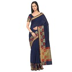 Party Wear Pure Silk Sarees, With Blouse Piece