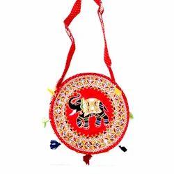 Embroidered Round Handicraft Handbag