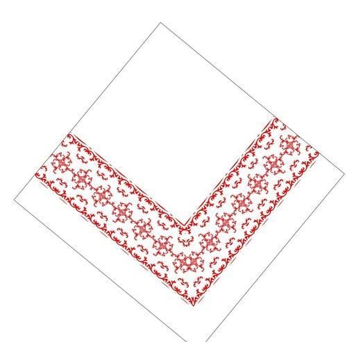Floral Border Soft Single Ply 1 Ply Printed Soft Tissue Napkins, Size: 30x30 Cm
