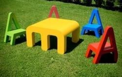 IWC Chair & Table Alphabet Kids School Furniture