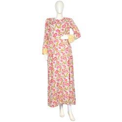 10 Cotton Hand Printed Women's Long Dress India DB20