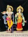 Traditional Marble Radha Krishna Statue