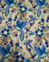 Designer Fancy Bird Embroidered Fabric