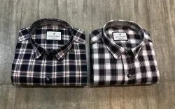 Collar Neck Regular Wear Mens Check Shirts