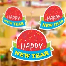 Paper New Year Hanging, For Decoration, Size: 20.5 X 15 Cm