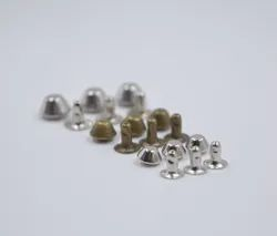 Steel & Brass Half Conical Rivet Button (Imported), For Garments, Packaging Type: Polythene Packets