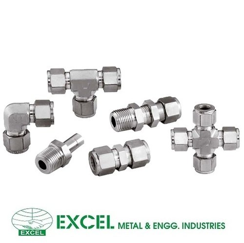"""BSPT Male 1//4/""""-1//2/"""" Compression Pipe Fittings Stud Connector Double Ferrule 304"""