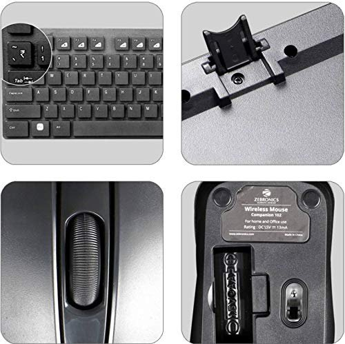 4797d51857b Keyboard - Teflon Zebronics Companion 102 Wireless Keyboard and ...